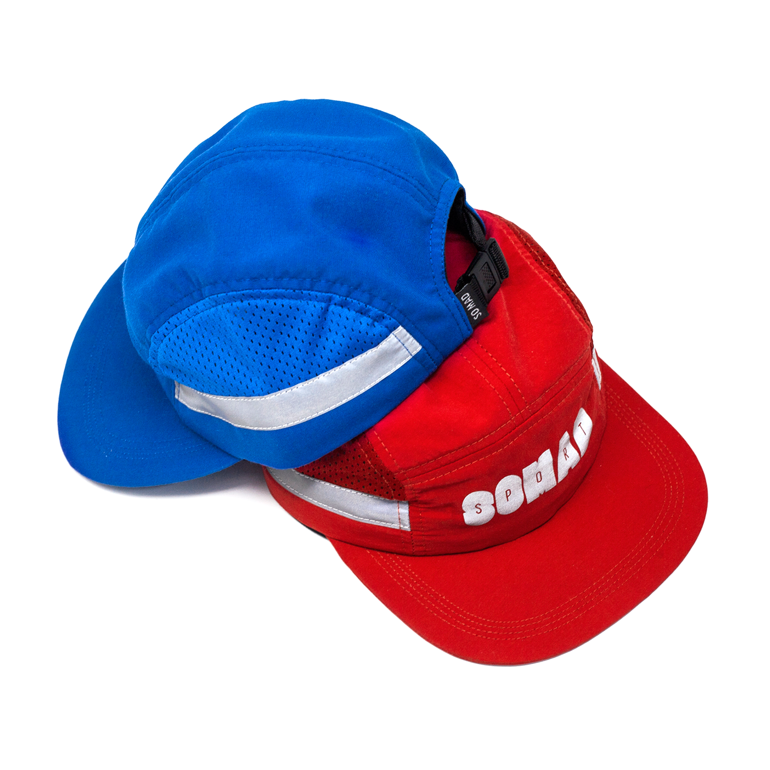 7 Panel So Mad Sport Hole Reflective Red and Royal Blue