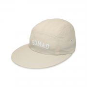 Gorra 5 Panel Long Bill University Cream