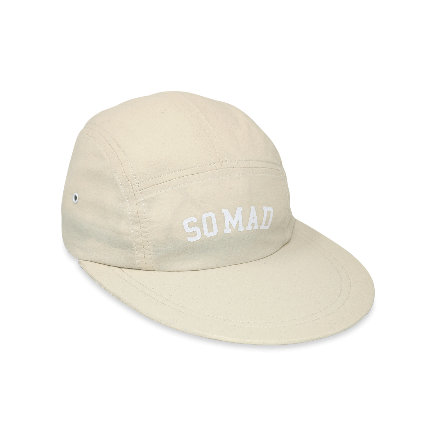 5 Panel Long Bill University Cream